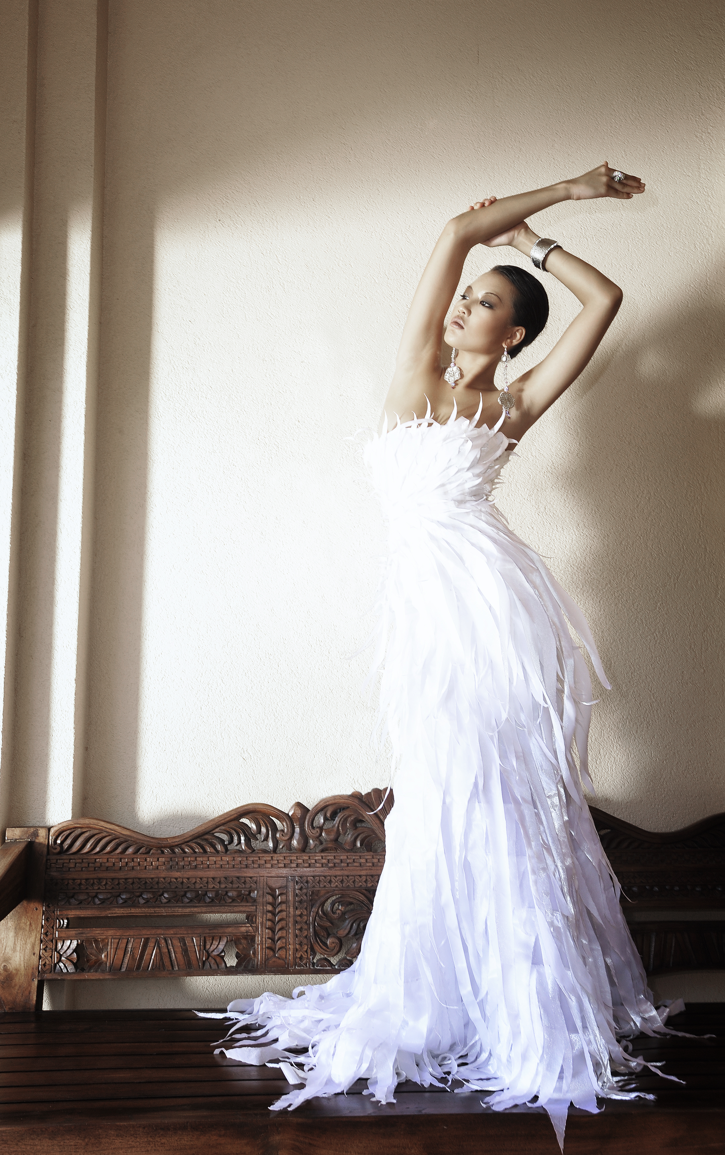 HFM_Slide Show Image_White Feather Gown_FINAL