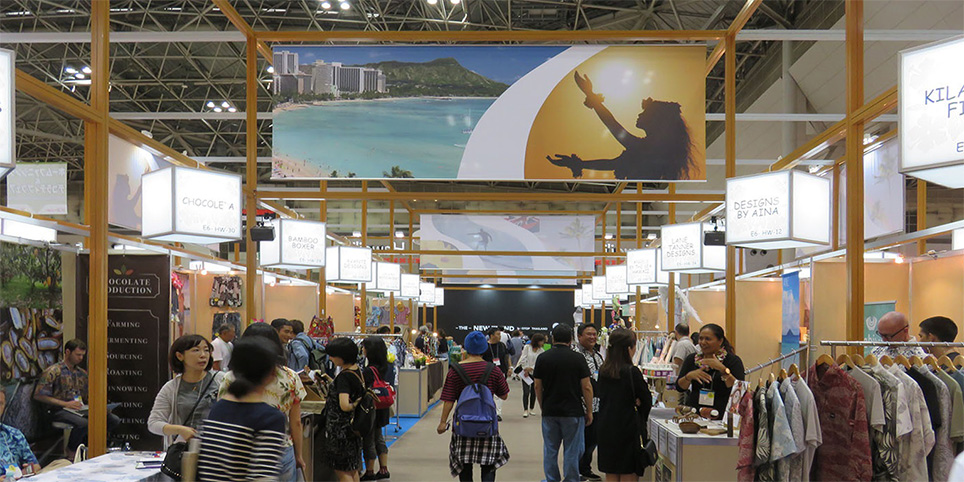 Tokyo International Gift Show with large crowd of people