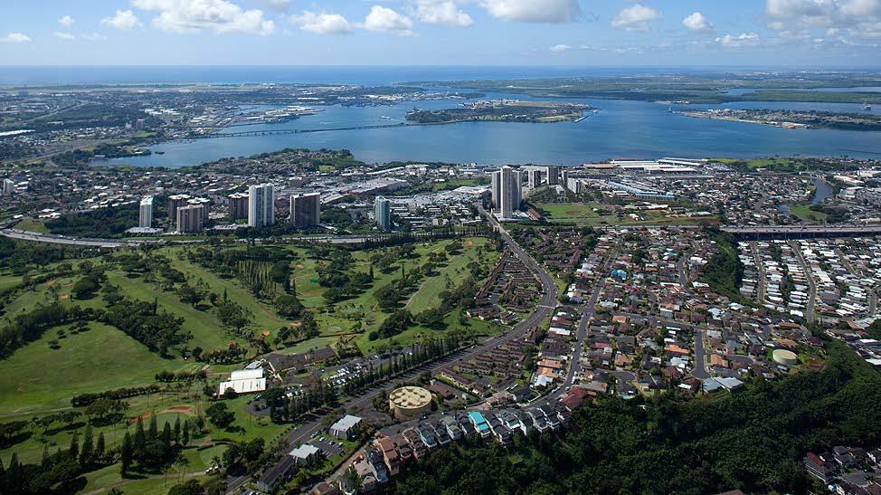 Aerial View of Aiea-Waipahu