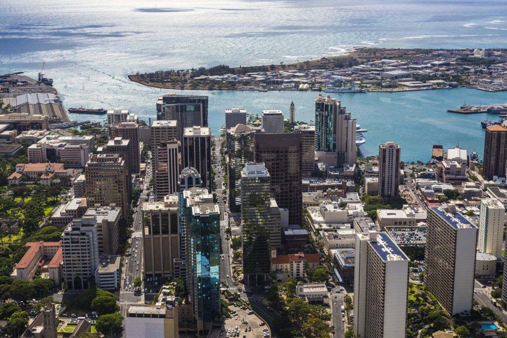 Aerial View of Downtown Kalihi