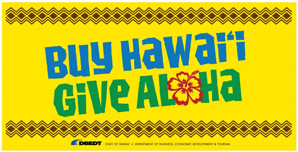 Buy Hawaii, Give Aloha Logo