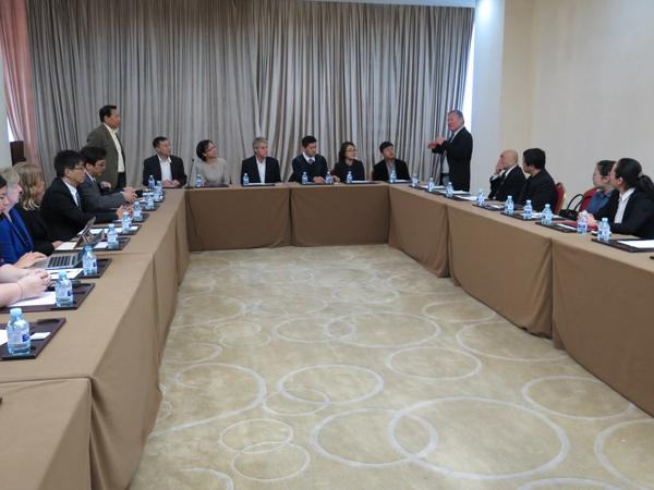 Representative Ken Ito welcomes panel members