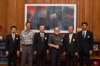 Governor Neil Abercrombie, Richard Lim, and Governor Yuhei Sato