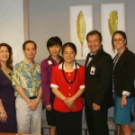 Dr. Liang and Ms. Huichen Pan with members of the State Department of Education