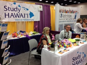 The Study Hawaii booth in San Diego