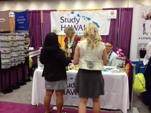 A picture of Study Hawaii Booth in San Diego