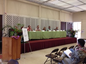 Panel of Kauai entrepreneurs speaking at the Fair