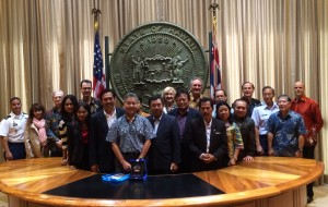 Governor Ige Meets Bali Contingent