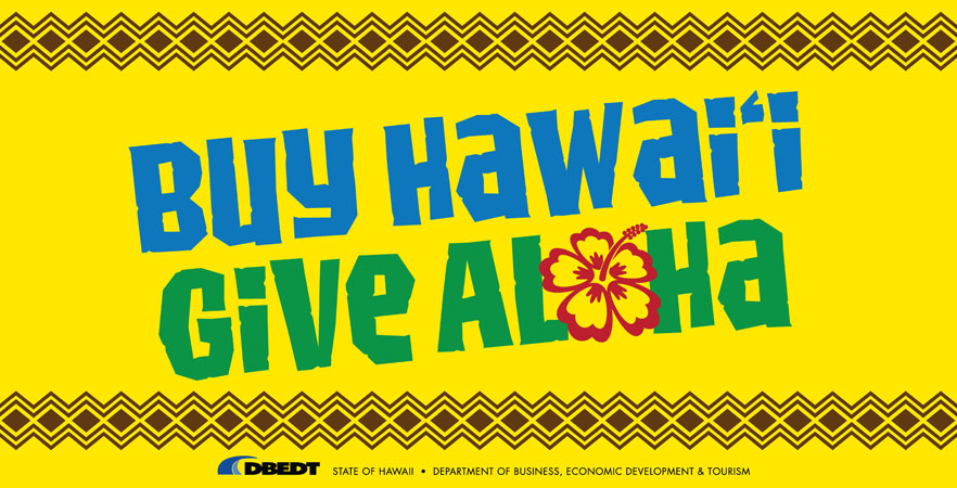 Buy Hawaii Give Aloha Logo